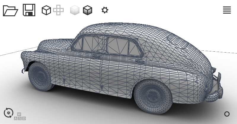 Wireframe view